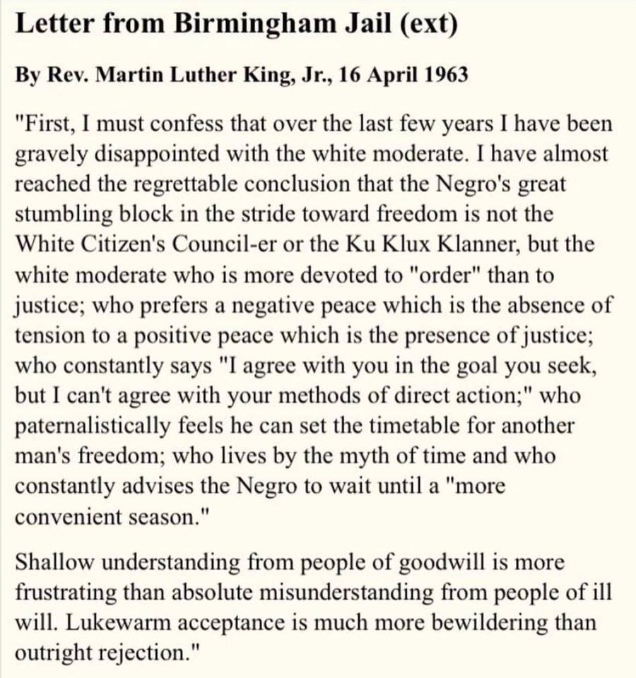 martin luther king letter from birmingham The document available for viewing above is from an early draft of the letter, while the audio is from king's reading of the letter later.